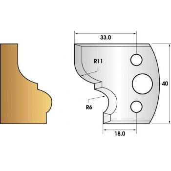 Jeu de 2 fers profiles hauteur  40X4 mm n° 111