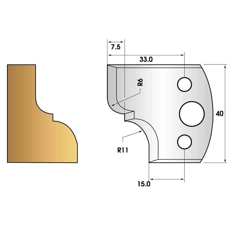 Jeu de 2 fers profiles hauteur  40X4 mm n° 112