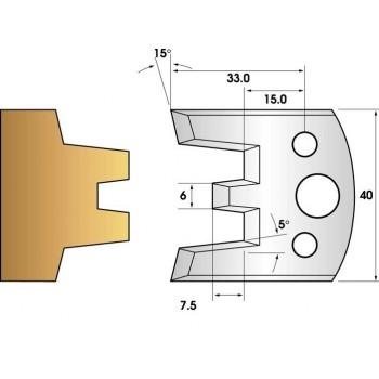 Jeu de 2 fers profiles hauteur  40X4 mm n° 113