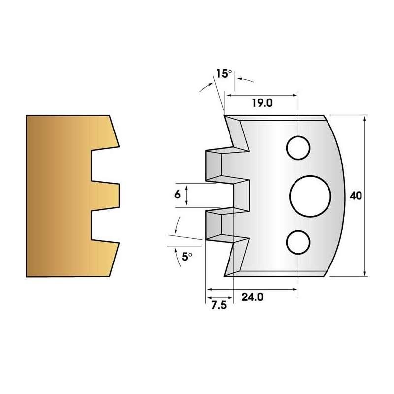 Jeu de 2 fers profiles hauteur  40X4 mm n° 114