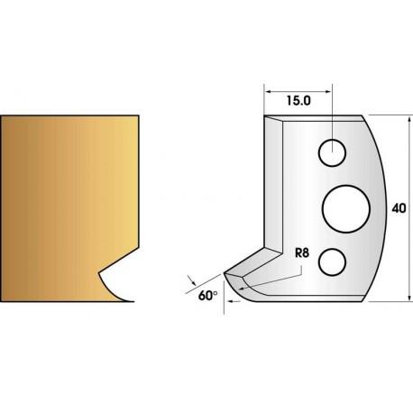 Paire de fers de toupie hauteur 40 n° 116 - montant contre noix