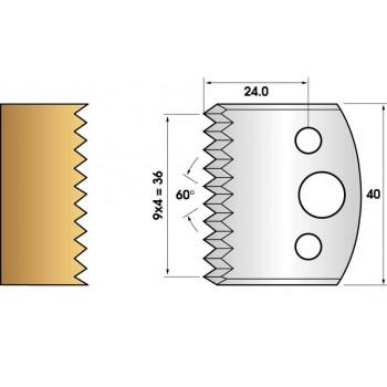 Paire de fers de toupie hauteur 40 n° 117 - enture dents de scie