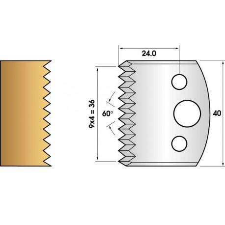 Jeu de 2 fers profiles hauteur  40X4 mm n° 117