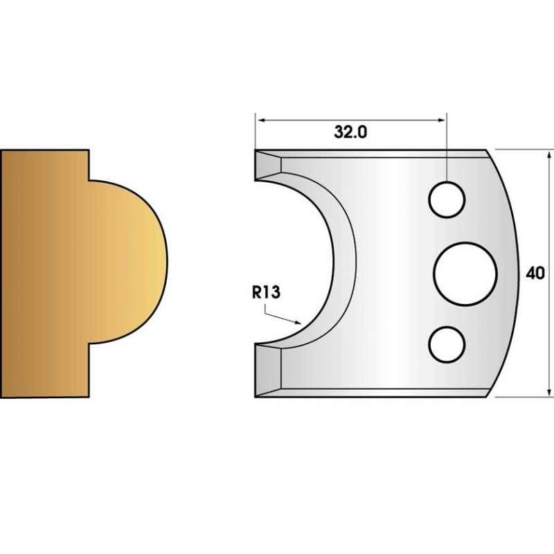 Jeu de 2 fers profiles hauteur  40X4 mm n° 119
