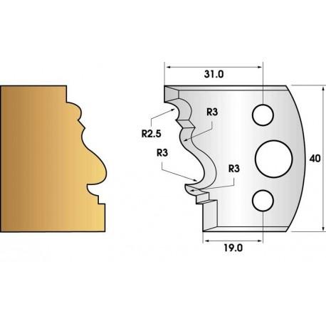 Jeu de 2 fers profiles hauteur  40X4 mm n° 122