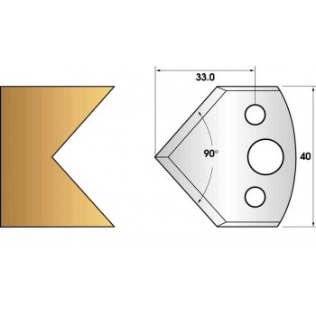Coltelli e limitatori de 40 mm n° 127 - smusso a 45°