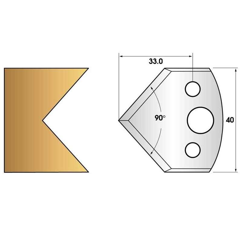Jeu de 2 fers profiles hauteur  40X4 mm n° 127