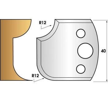 Jeu de 2 fers profiles hauteur  40X4 mm n° 176
