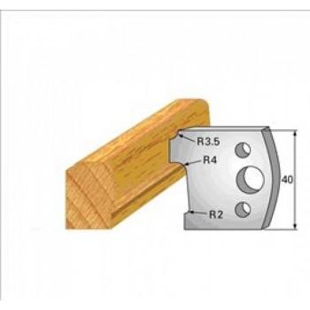 Paire de fers de toupie hauteur 40 n° 130 - moulure