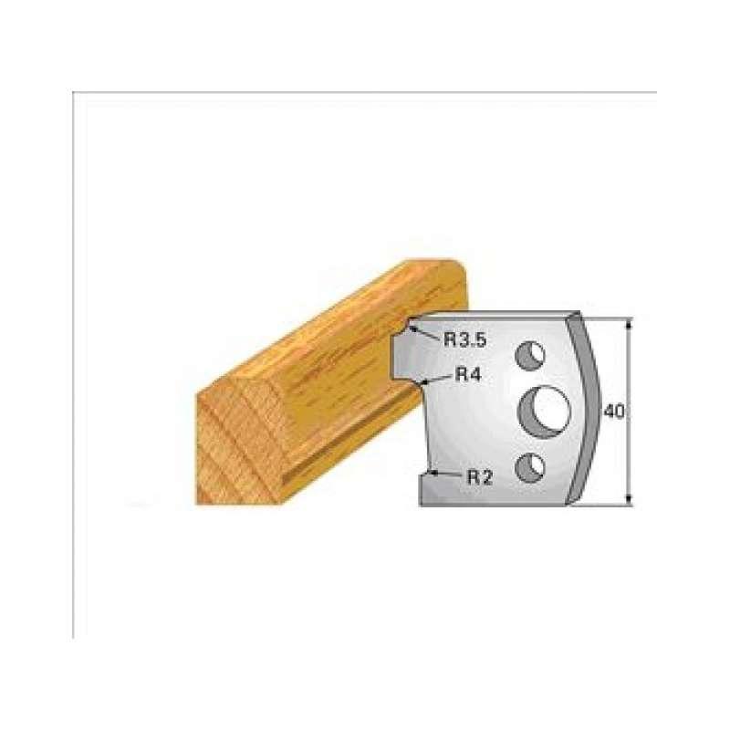 Coltelli e limitatori de 40 mm n° 130 - stampaggio