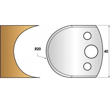 Coltelli e limitatori de 40 mm n° 131 - Lasciare 2 mm