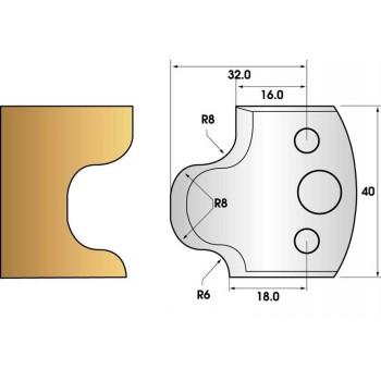 Coltelli e limitatori de 40 mm n° 56 - gueule de loup
