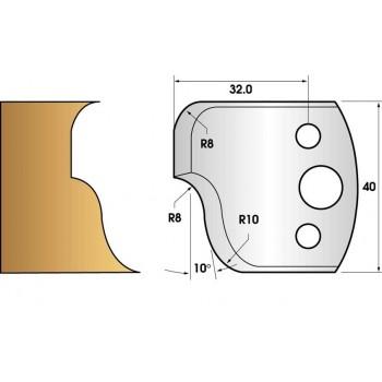 Jeu de 2 fers profiles hauteur  40X4 mm n° 59
