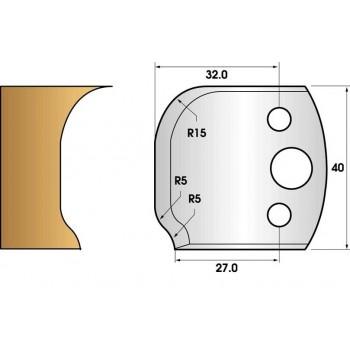 Coltelli e limitatori de 40 mm n° 60 - profilo e lasciare
