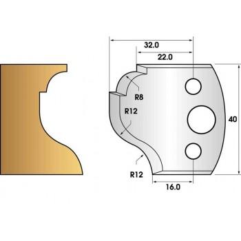 Jeu de 2 fers profiles hauteur  40X4 mm n° 61
