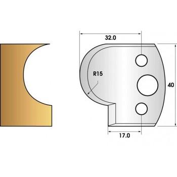 Paire de fers de toupie hauteur 40 n° 65