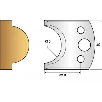 Jeu de 2 fers profiles hauteur  40X4 mm n° 66