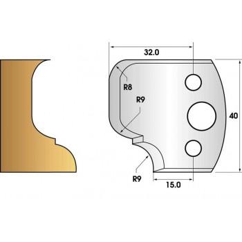 Paire de fers de toupie hauteur 40 n° 68 - moulure