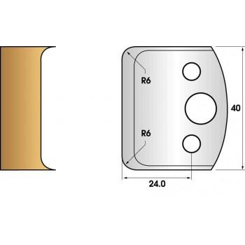 Paire de fers de toupie hauteur 40 n° 69 - rayon 6mm