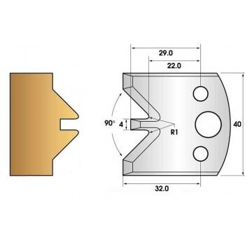 Jeu de 2 fers profiles hauteur  40X4 mm n° 71