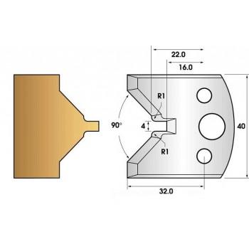 Jeu de 2 fers profiles hauteur  40X4 mm n° 72