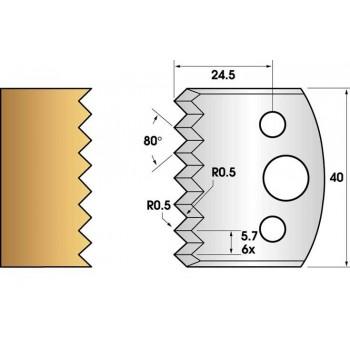 Jeu de 2 fers profiles hauteur  40X4 mm n° 77