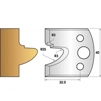 Jeu de 2 fers profiles hauteur  40X4 mm n° 78