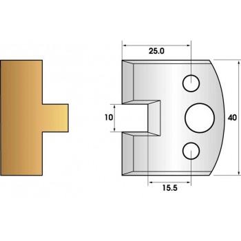 Paire de fers de toupie hauteur 40 n° 92 - languette 10mm