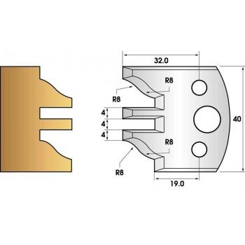 Coltelli e limitatori de 40 mm n° 97 - profilo/contatore-profilo