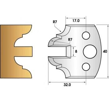 Coltelli e limitatori de 40 mm n° 99 - contro-profilo 40mm