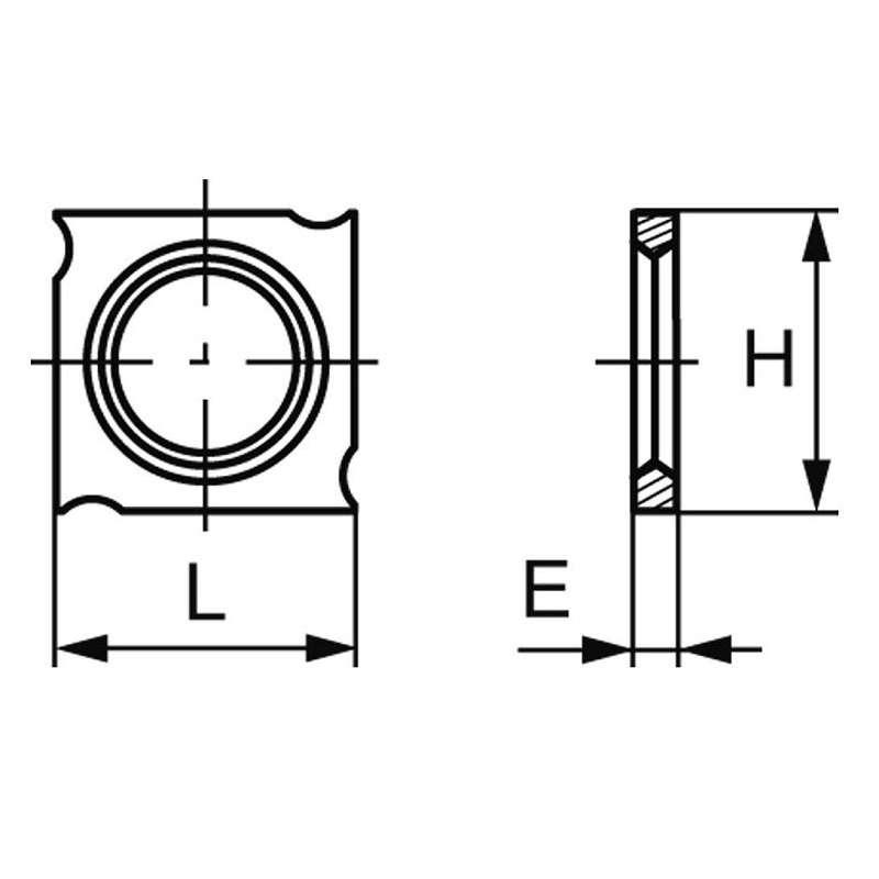 Plaquette carbure réversible (araseurs) 18x18x1.95 mm, boite de 10 pièces