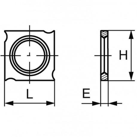 Plaquette carbure (araseurs) 18x18x1.95 mm, boite de 10 pièces