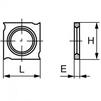 Plaquette carbure (araseurs) 18x18x2.45 mm, boite de 10 pièces