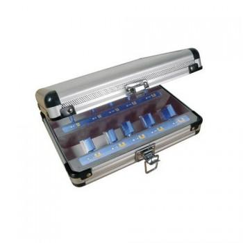 Set di 10 frese a taglienti diritti per canali - Coda 8 mm