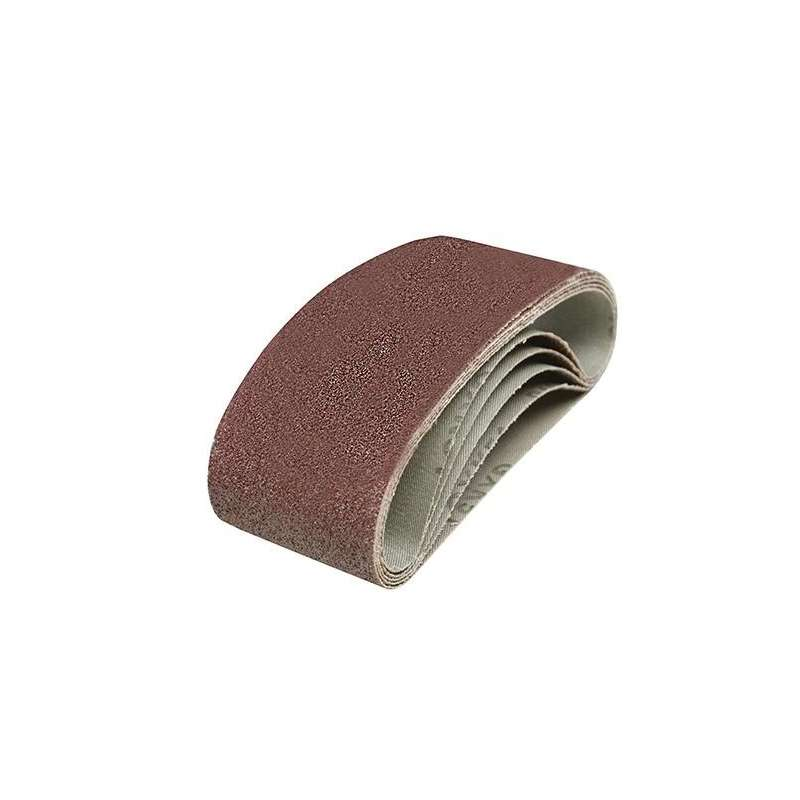 Bande abrasive 533X75 mm grain 80, le lot de 5
