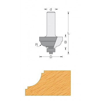Classical ogee router bit Ø 25.4 - Shank 6 mm