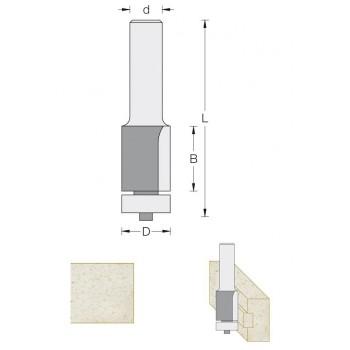 Fraise de défonceuse Q8 - Pour affleurer Ø 12.5 LU 15 mm