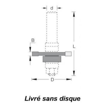 Aufnahmedorne - Shaft 8 mm
