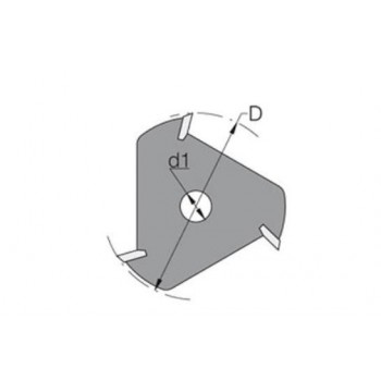 Fraise-disque à 3 coupes carbure pour rainure-languette de  5.0 MM