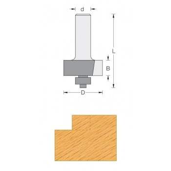 Rabbeting router bit Ø 32 mm shank 8 mm