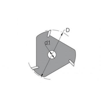 Fraise-disque à 3 coupes carbure pour rainure-languette de 2.5 MM