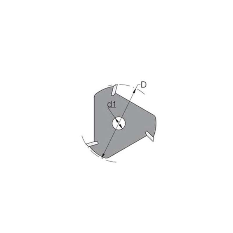 Fraise-disque à 3 coupes carbure pour rainure-languette de 1.5 MM