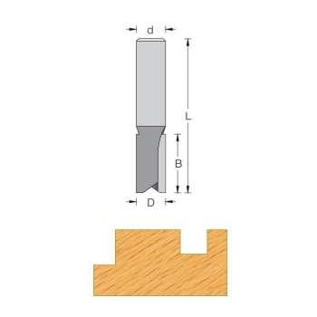 Nutfräser Ø 20 mm sehr länge serie - Shaft 12 mm