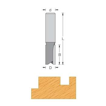 Fraise de défonceuse Q12 pour rainurer Ø20 mm série extra longue