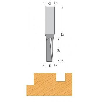 Fresa de corte recto para canales Ø 16 mm - Cola 8 mm