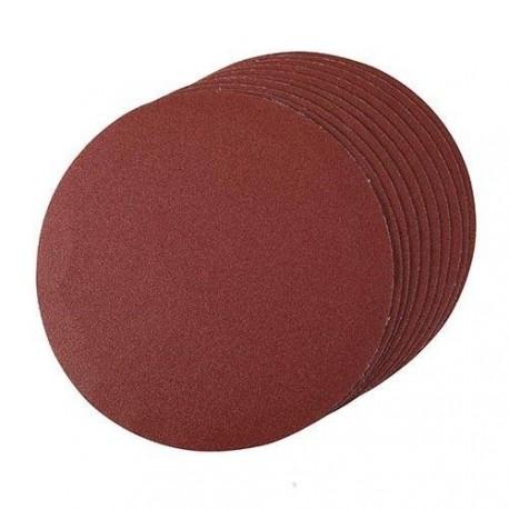Disque abrasif velcro dia. 150 mm, grain 80, le lot de 10
