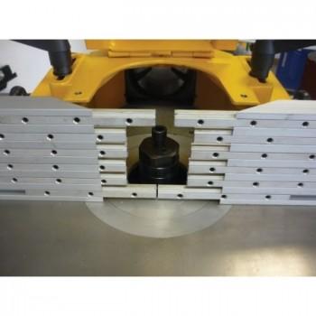 Guida per la sicurezza in lamelle per la filatura di lunghezza superiore a 600 mm