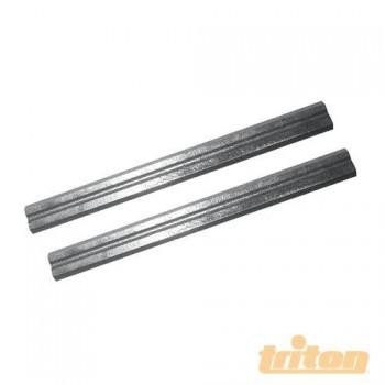Fers pour rabot électroportatif 75 x 5.5 x 1.1 mm (lot de 2)