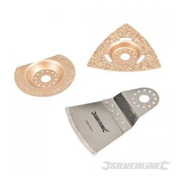 Kit de ponçage carbure et diamant pour outil multifonction (3 pcs)