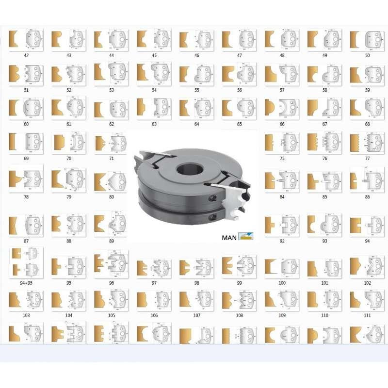 Portacuchillas de seguridad con 32 juegos de contracuchillas 40 mm